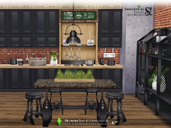Industrial Kitchen extras by SIMcredible at TSR image 2922 Sims 4 Updates
