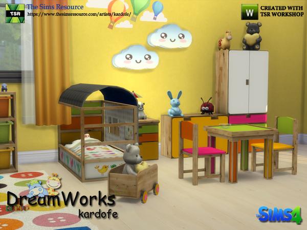 Sims 4 DreamWorks kids bedroom by kardofe at TSR