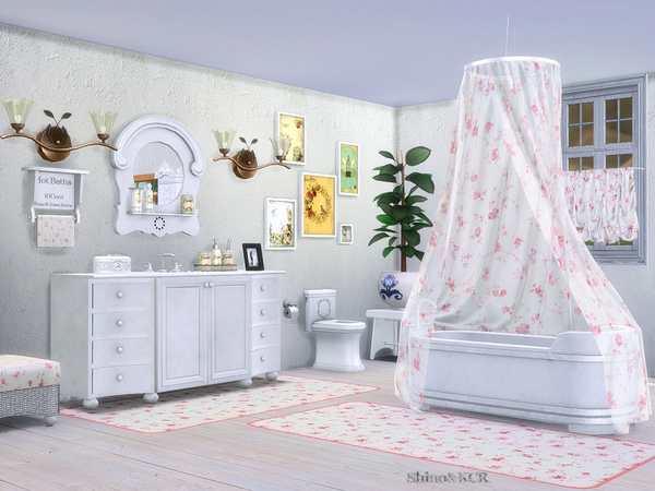 Bathroom Country by ShinoKCR at TSR image 297 Sims 4 Updates
