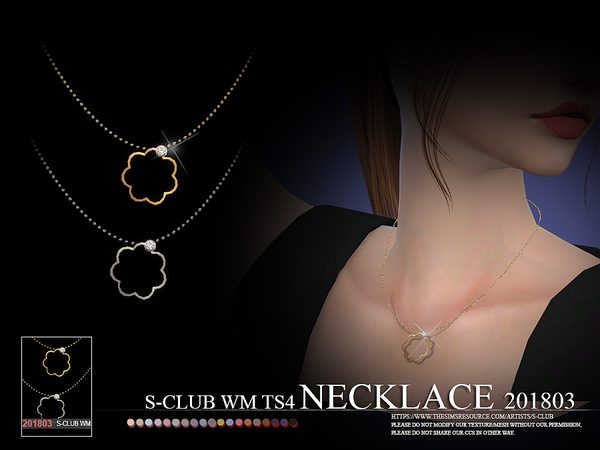 Necklace F 201803 by S Club WM at TSR image 298 Sims 4 Updates