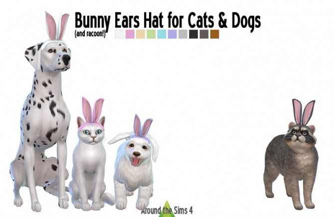 Bunny Ears hat for Pets (Cats & Dogs) at Around the Sims 4 image 300 670x436 Sims 4 Updates