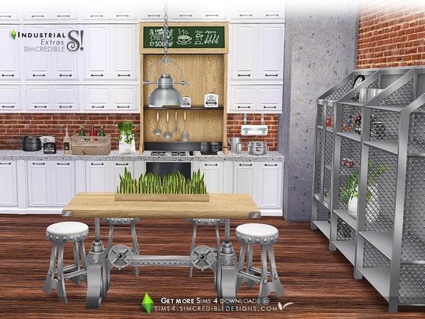 Industrial Kitchen extras by SIMcredible at TSR image 3022 Sims 4 Updates