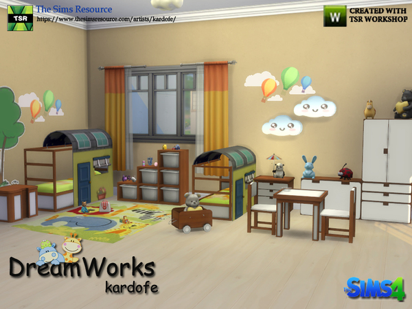 DreamWorks kids bedroom by kardofe at TSR image 306 Sims 4 Updates