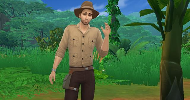 Sims 4 Indiana Jones no CC by LénaCrow at Sims Artists