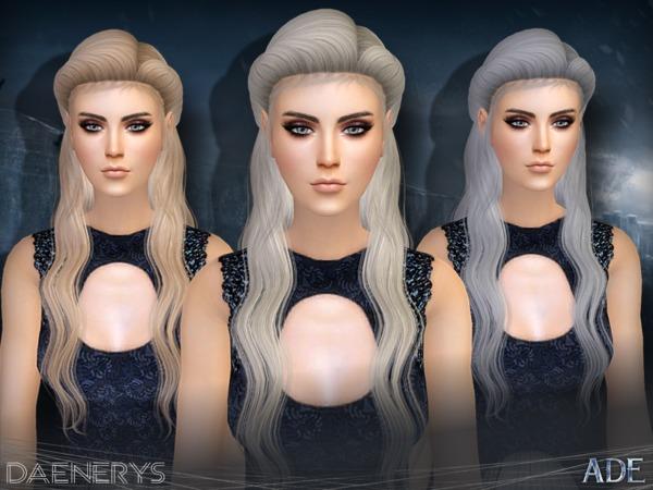 Daenerys hair by Ade Darma at TSR image 309 Sims 4 Updates