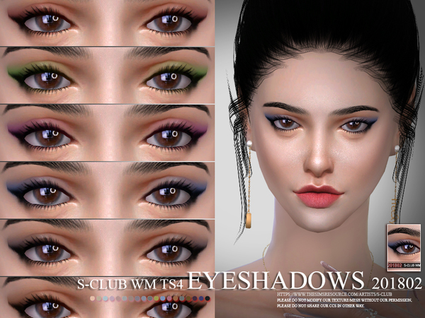 Eyeshadow 201802 by S Club WM at TSR image 31 Sims 4 Updates