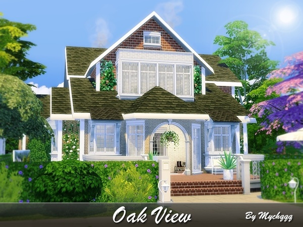Oak View house by MychQQQ at TSR image 3102 Sims 4 Updates