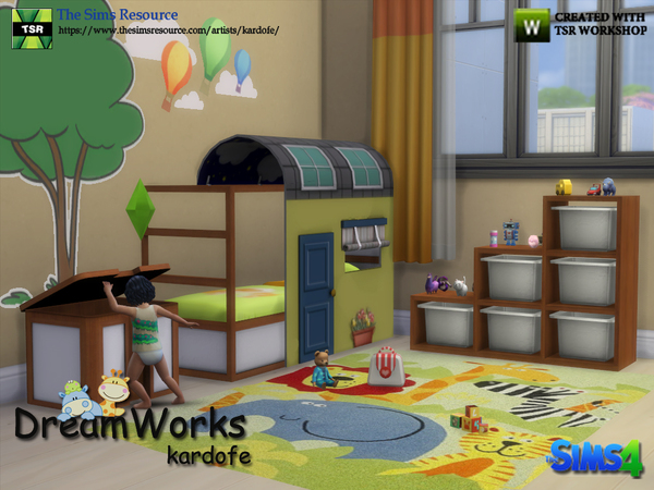 DreamWorks kids bedroom by kardofe at TSR image 3110 Sims 4 Updates