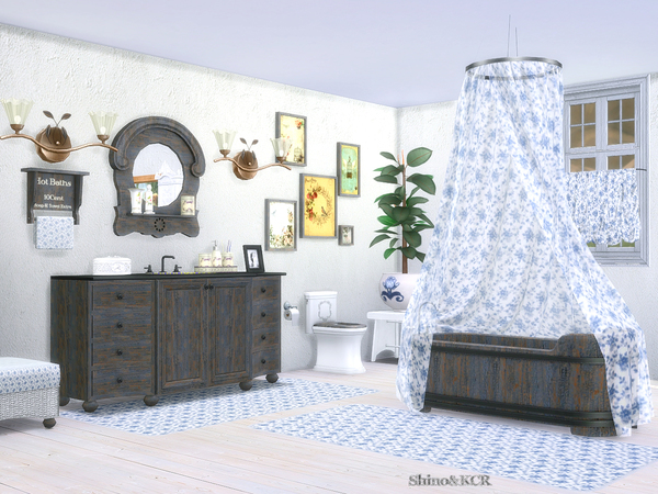 Bathroom Country by ShinoKCR at TSR image 3111 Sims 4 Updates