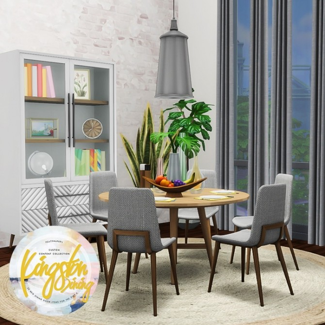 Sims 4 Kingston Dining 20 New Items at Simsational Designs