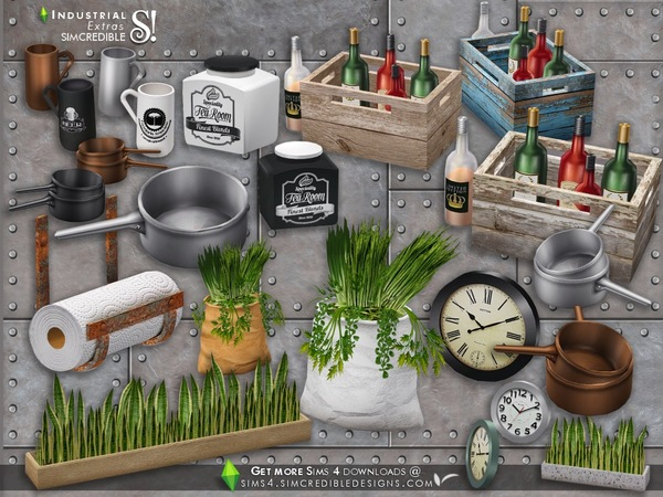 Industrial Kitchen extras by SIMcredible at TSR image 3126 Sims 4 Updates