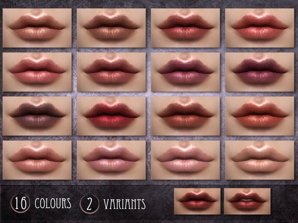 Sims 4 Glycine Lipstick by RemusSirion at TSR