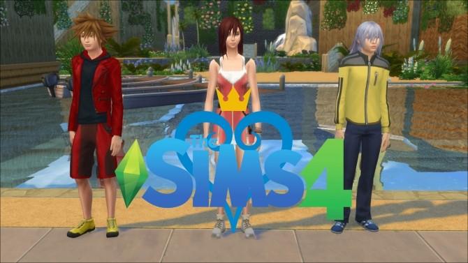 Sims 4 Sora, Kairi and Riku from Kingdom Hearts by GoBananas at Mod The Sims