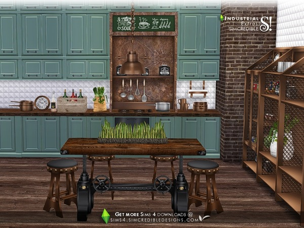 Industrial Kitchen extras by SIMcredible at TSR image 3224 Sims 4 Updates