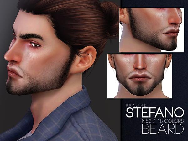 Sims 4 Stefano Beard N53 by Pralinesims at TSR