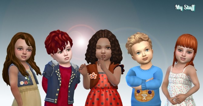 Toddlers Hair Pack 19 at My Stuff image 3271 670x349 Sims 4 Updates
