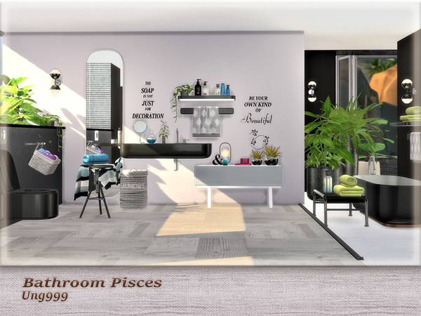 Bathroom Pisces by ung999 at TSR image 3310 Sims 4 Updates
