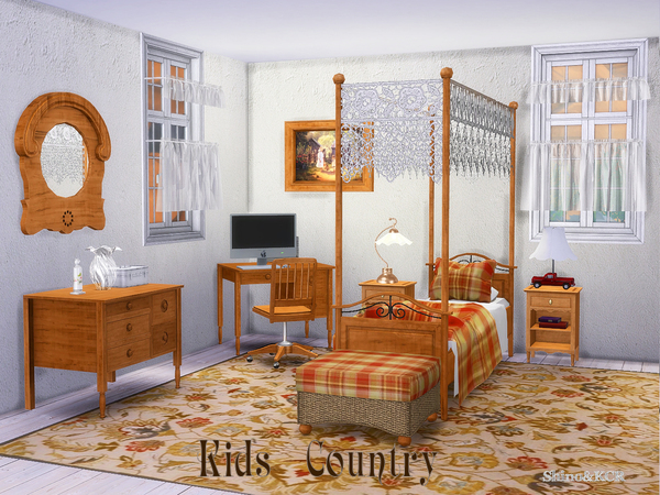 Country Kids room by ShinoKCR at TSR image 3312 Sims 4 Updates