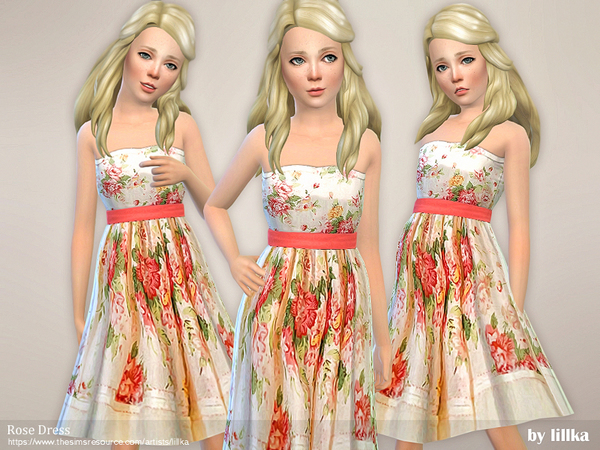 Rose Dress by lillka at TSR image 3315 Sims 4 Updates