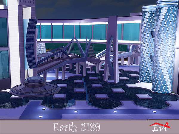 Sims 4 Earth 2189 Lunar Year house by evi at TSR