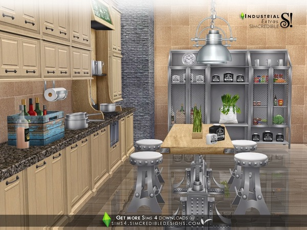 Industrial Kitchen extras by SIMcredible at TSR image 3322 Sims 4 Updates