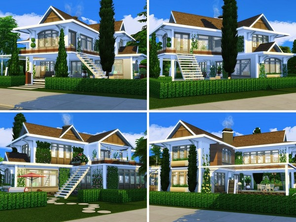 Sims 4 Meadow View home by MychQQQ at TSR