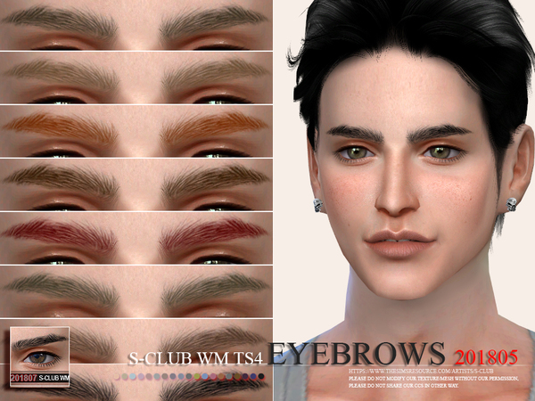 Sims 4 Eyebrows 201805 by S Club WM at TSR