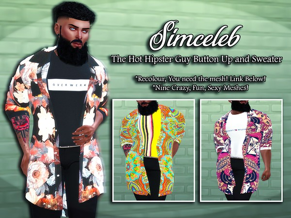 Sims 4 The Hot Hipster Guy Blazer and Top by simceleb at TSR