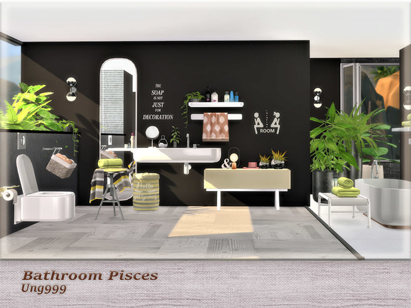 Bathroom Pisces by ung999 at TSR image 349 Sims 4 Updates