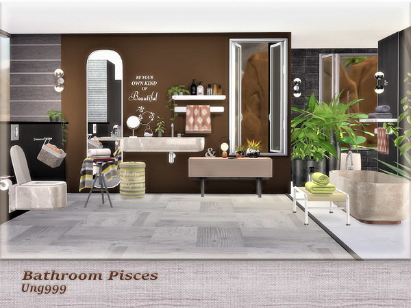 Sims 4 Bathroom Pisces by ung999 at TSR