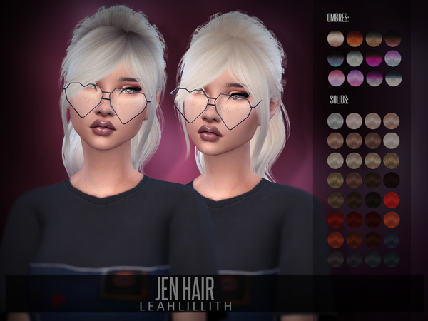 Jen Hair by Leah Lillith at TSR image 355 Sims 4 Updates