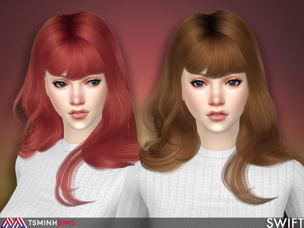 Swift Hair 57 by TsminhSims at TSR image 356 Sims 4 Updates