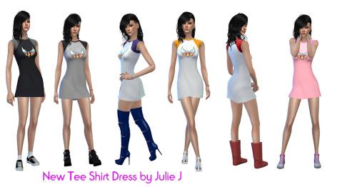 Sims 4 New Tee Shirt Dress at Julietoon – Julie J