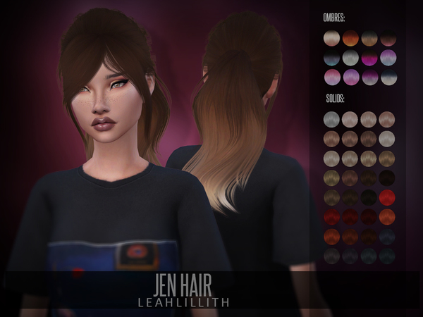 Jen Hair by Leah Lillith at TSR image 365 Sims 4 Updates