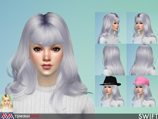 Swift Hair 57 by TsminhSims at TSR image 366 Sims 4 Updates