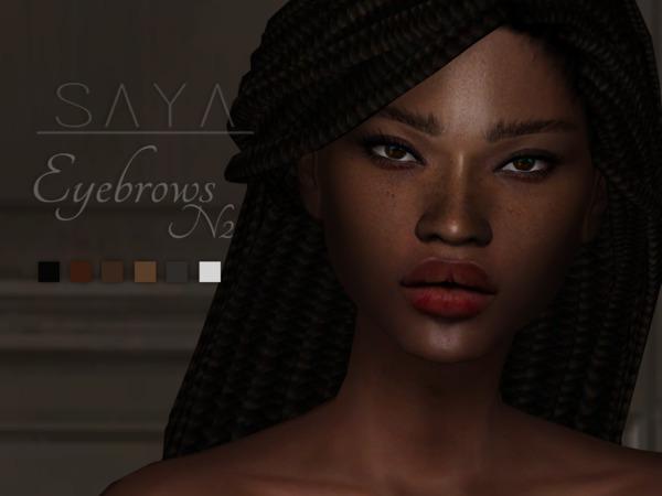 Sims 4 Eyebrows N2 by SayaSims at TSR