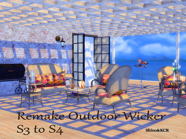 Outdoor Wicker by ShinoKCR at TSR image 3816 Sims 4 Updates