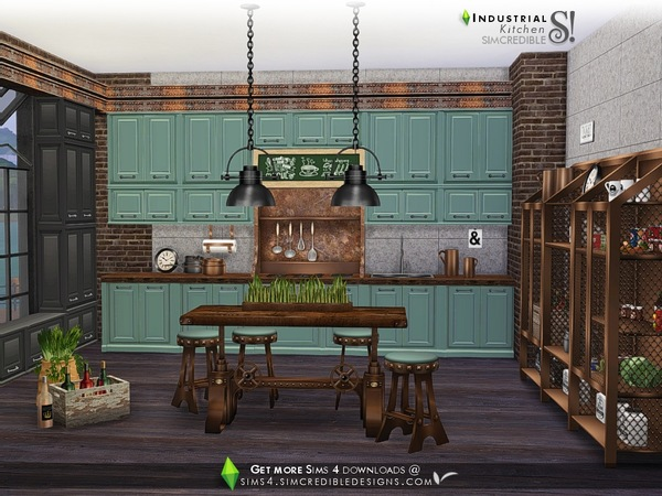Industrial Kitchen by SIMcredible at TSR image 3819 Sims 4 Updates
