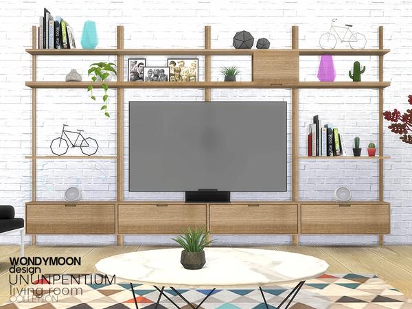 Sims 4 Ununpentium Living Room II by wondymoon at TSR