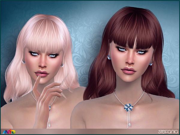 Sims 4 Stefania Hair by Anto at TSR