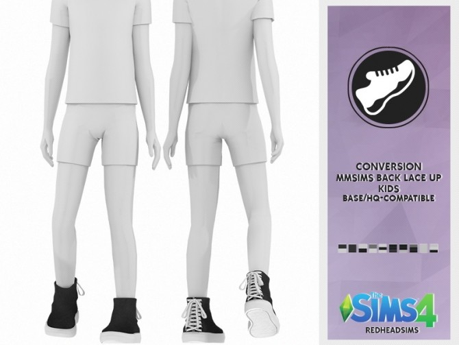 MMSIMS BACK LACE UP SHOES KIDS AND TODDLER VERSION at REDHEADSIMS – Coupure Electrique image 396 670x503 Sims 4 Updates