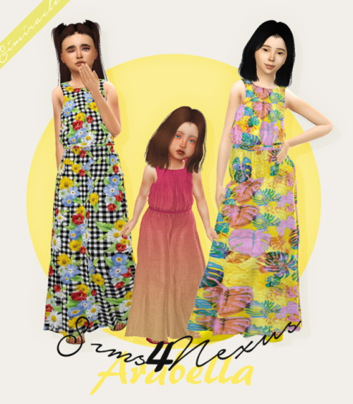 Sims 4 Arabella dress Recolor For Kids & Toddlers at Simiracle