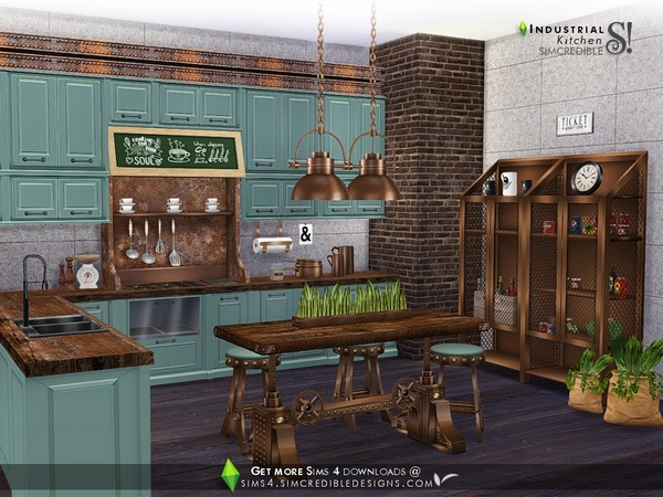 Industrial Kitchen by SIMcredible at TSR image 4019 Sims 4 Updates