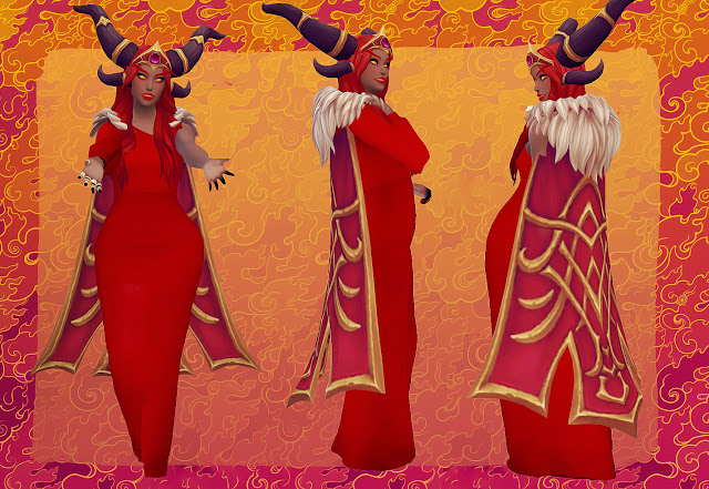 Alexstrasza from Heroes of the Storm conversion at Valhallan image 4051 Sims 4 Updates