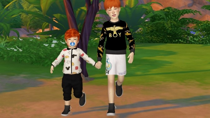MMSIMS BACK LACE UP SHOES KIDS AND TODDLER VERSION at REDHEADSIMS – Coupure Electrique image 406 670x377 Sims 4 Updates
