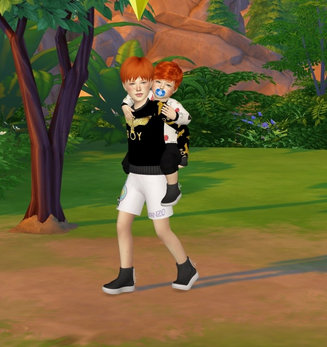 Sims 4 MMSIMS BACK LACE UP SHOES KIDS AND TODDLER VERSION at REDHEADSIMS