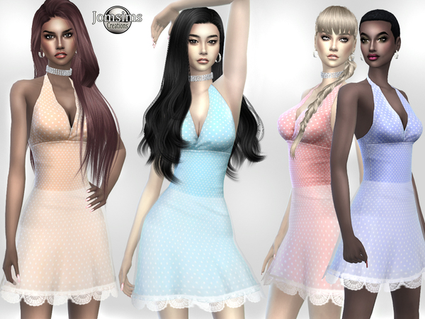 Sims 4 Eines dress by jomsims at TSR