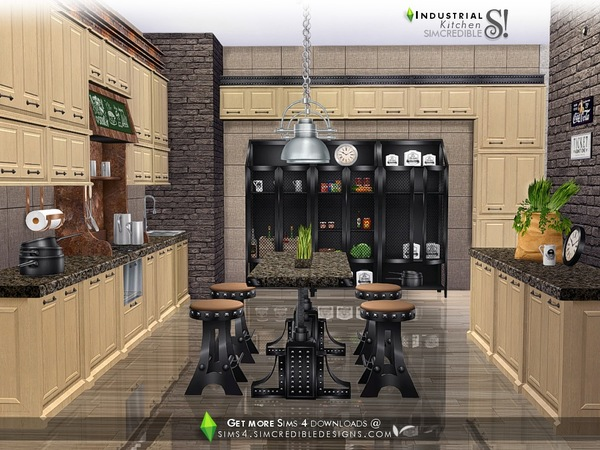 Industrial Kitchen by SIMcredible at TSR image 4123 Sims 4 Updates