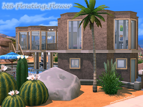 MB Flowting Flower house by matomibotaki at TSR image 4124 Sims 4 Updates