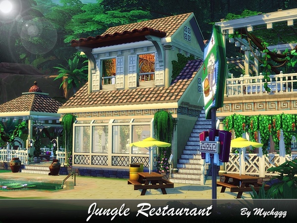 Jungle Restaurant by MychQQQ at TSR image 4215 Sims 4 Updates